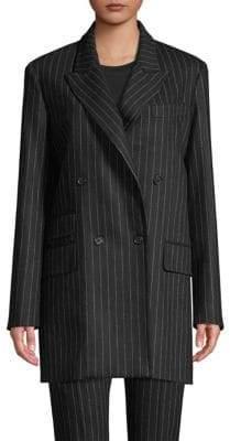 Max Mara Avon Pinstripe Oversize Double-Breasted Jacket