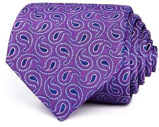 Turnbull & Asser Tossed Paisley Pines Silk Classic Tie