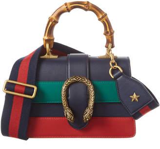 Gucci Dionysus Mini Bamboo Top Handle Leather Shoulder Bag