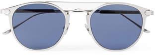 Cartier Eyewear - Signature C de Round-Frame Silver-Tone Sunglasses