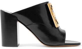 Givenchy Logo-embellished Leather Mules - Black