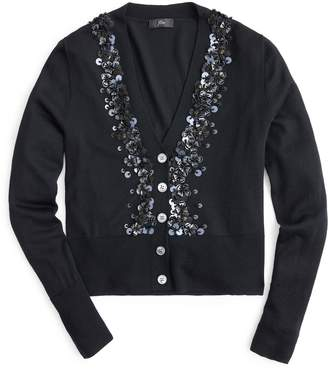 J.Crew Sequin Embellished Cardigan Sweater