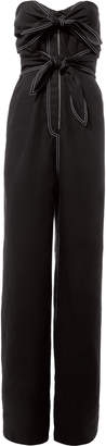 Derek Lam Knot Detail Strapless Jumpsuit