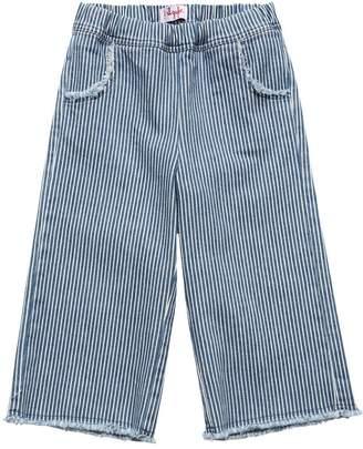 Il Gufo Striped Stretch Cotton Denim Pants