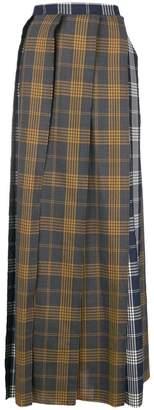 Vivienne Westwood raw edge pleated skirt