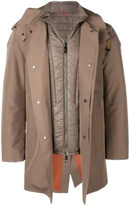 Kired short basic parka coat