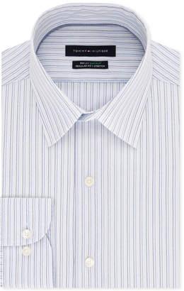 Tommy Hilfiger Men's Slim-Fit Th Flex Non-Iron Supima Stretch Stripe Dress Shirt