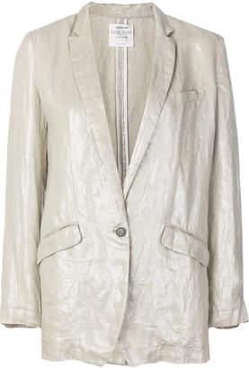 Forte Forte metallic single-breasted blazer