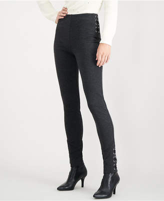 INC International Concepts I.N.C. Skinny Lace-Up Ponté-Knit Pants, Created for Macy's