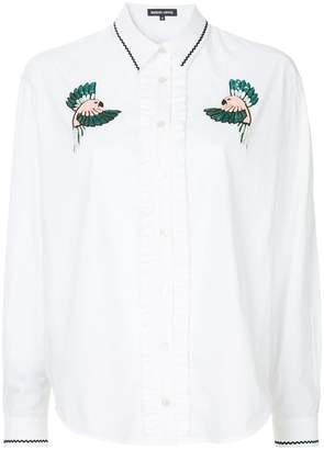 Markus Lupfer beaded bird patch shirt