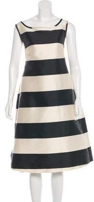 Rochas Striped Midi Dress