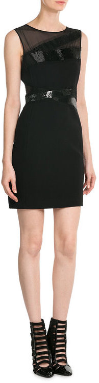 Emilio Pucci Emilio Pucci Virgin Wool Mini Dress with Silk