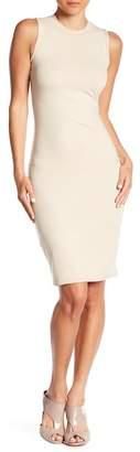 Noa Elle Mock Neck Sheath Dress