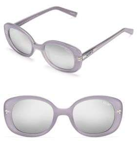 Quay Lulu Mini Oval Mirrored Sunglasses