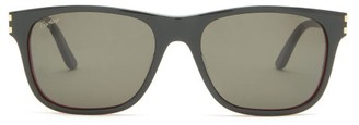 Cartier Eyewear - C Decor Square Acetate Sunglasses - Mens - Black