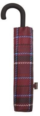 MANGO Madras-check folding umbrella