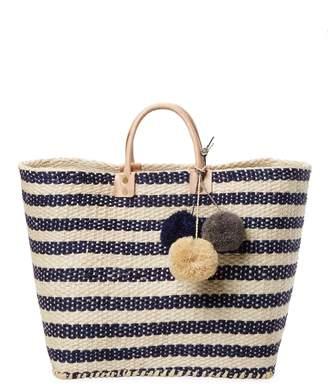 Mar y Sol Women's Stripe Weave Tote