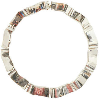 One Kings Lane Vintage Givenchy Modernist Silver Collar - Maeven