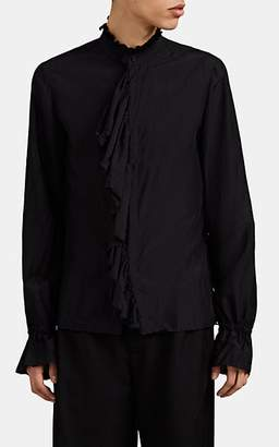 Gucci Men's Ruffle Silk Shirt - Black