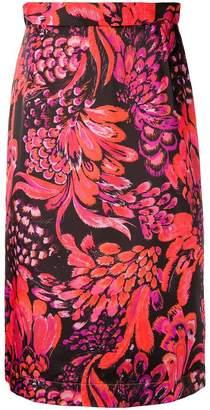 Baum und Pferdgarten feather print skirt