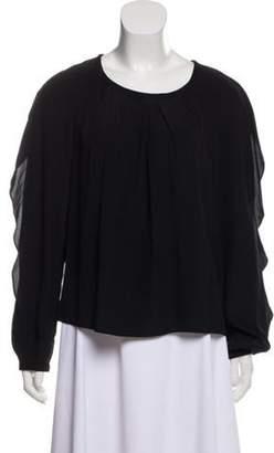 Sonia Rykiel Silk Pleat Blouse Black Silk Pleat Blouse