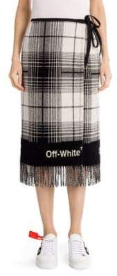 Off-White Check Blanket Skirt