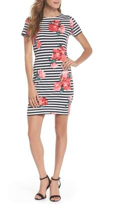 French Connection Jude Flower Stripe Knit Dress