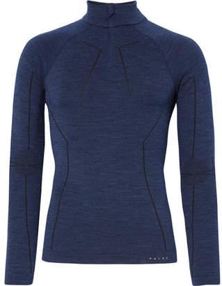 Falke Ergonomic Sport System - Stretch Virgin Wool-Blend Half-Zip Base Layer