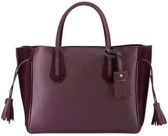 Longchamp Penelope Medium Leather and Suede Tote Bag