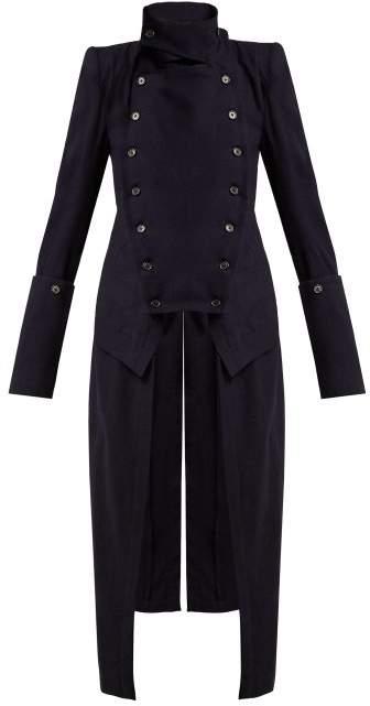 Jane Wool Tailcoat - Womens - Navy