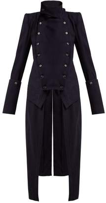 Ann Demeulemeester Jane Wool Tailcoat - Womens - Navy
