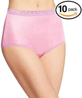 Fruit of the Loom Women's 10 Pack Original Cotton Brief Panties