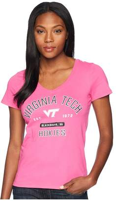 Champion College Virginia Tech Hokies University V-Neck Tee Women's T Shirt