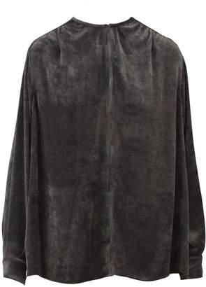 Stella McCartney Grey Velvet Blouse
