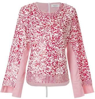 Aviu sequinned tulle and poplin pullover