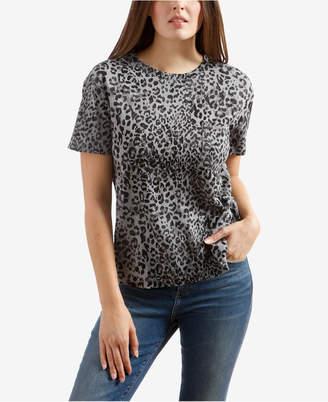 Lucky Brand Leopard-Print Pocket T-Shirt