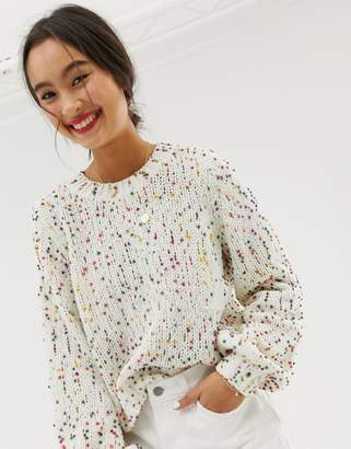 Only jumper with bright coloured spots