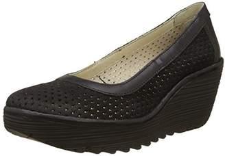 Fly London Women's Yobe842Fly Closed Toe Heels, Black, 41 EU