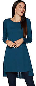 Lisa Rinna Collection Long Sleeve Knit Tunicwith Side Slits
