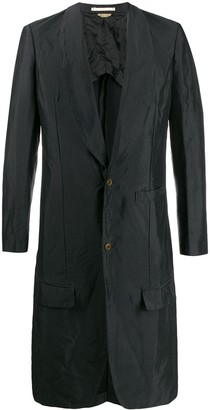 Comme des Garcons long single-breasted coat