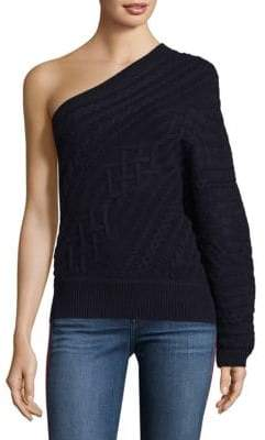 Joie Orella Wool One-Shoulder Cable Knit Sweater