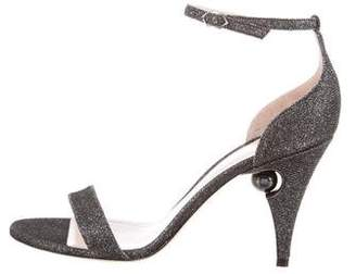 Nicholas Kirkwood Glitter High-Heel Sandals w/ Tags