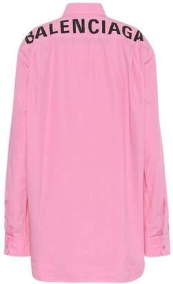 Balenciaga Logo cotton-poplin shirt