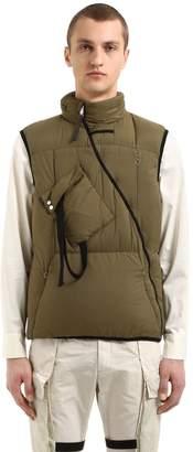 Hooded Zip Nylon Puffer Vest