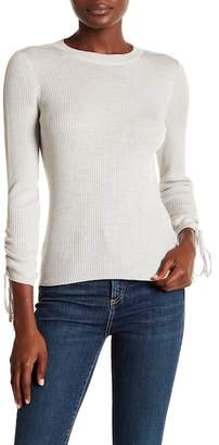 Veronica Beard Owen Tubular Drawstring Sleeve Merino Wool Sweater