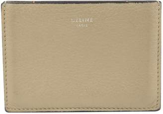 Celine Khaki Leather Wallets