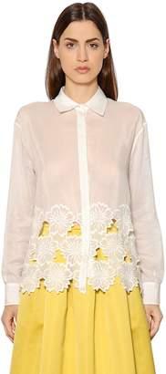 Rochas Floral Cotton & Silk Voile Shirt