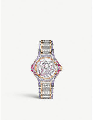 Rosegold CARL F BUCHERER 00.10590.09.90.31 Pathos Swan Limited Edition 18ct rose-gold, diamond and sapphire watch