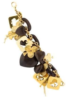 Erickson Beamon Wooden Heart Charm Bracelet