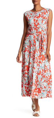 Chaus Belted Garden Lines Maxi Dress $89 thestylecure.com
